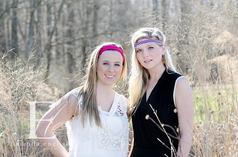 Raleigh High School Senior Headshot Photographer Yates Mill: Headbands of Hope + Peachy Keen - Amanda English Photography