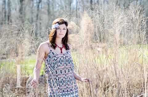 Raleigh High School Senior Headshot Photographer Yates Mill: Headbands of Hope + Peachy Keen - Amanda English Photography