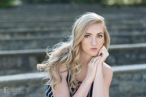 Raleigh NC Senior Portrait | Amanda English Photography